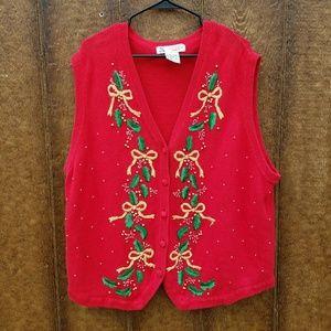 Vintage Ugly Christmas Sweater Vest 3XL